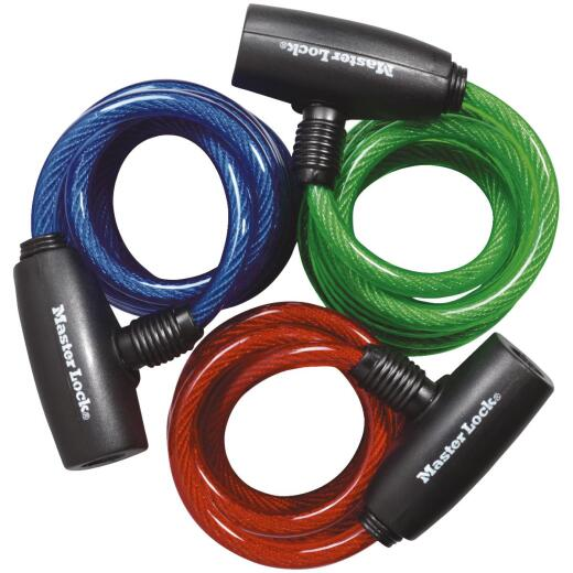 Master Lock 6 Ft. Cable Bike Lock (3 Pack)