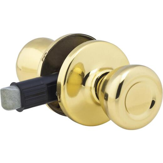 Kwikset Polished Brass Mobile Home Passage Lockset
