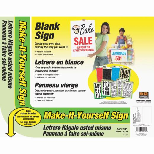 Hy-Ko Make-It-Yourself Sign Kit