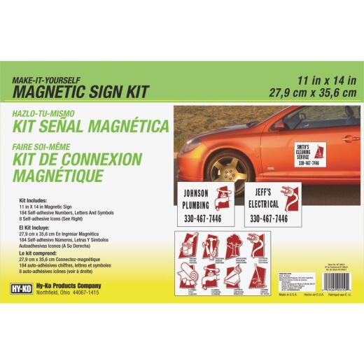 Hy-Ko Magnetic Make-It-Yourself Sign Kit