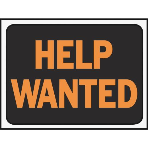 Hy-Ko Plastic Sign, Help Wanted