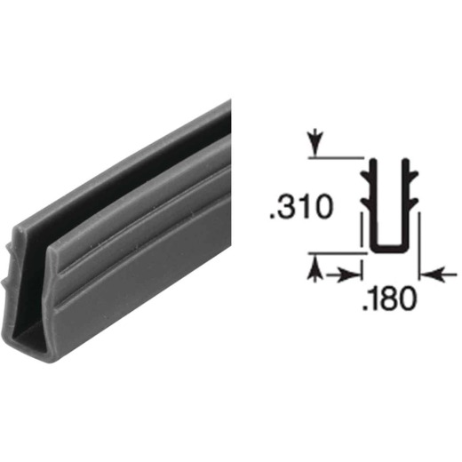 Prime Line 1/4 In. Glass Glazing Channel
