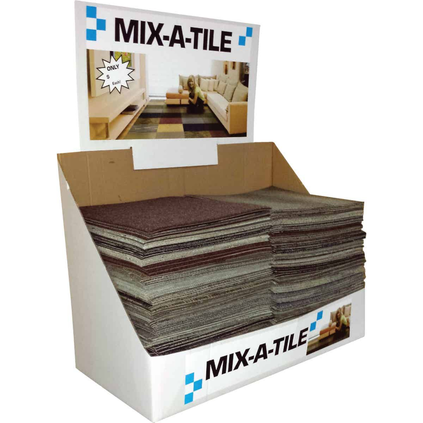 Natco Home 24 In. W x 24 In. L Mixed Colors Indoor Carpet Tile Image 1