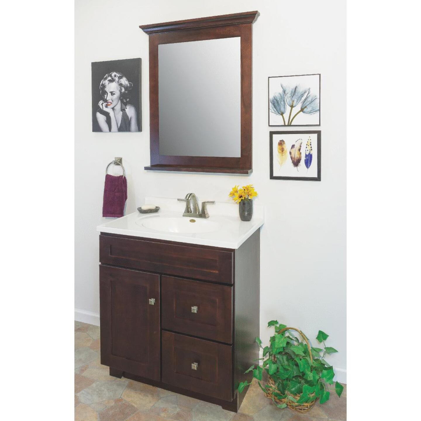 CraftMark CherryVale Shaker Cherry 30 In. W x 34 In. H x 21 In. D Vanity Base, 1 Door/2 Drawer Image 5