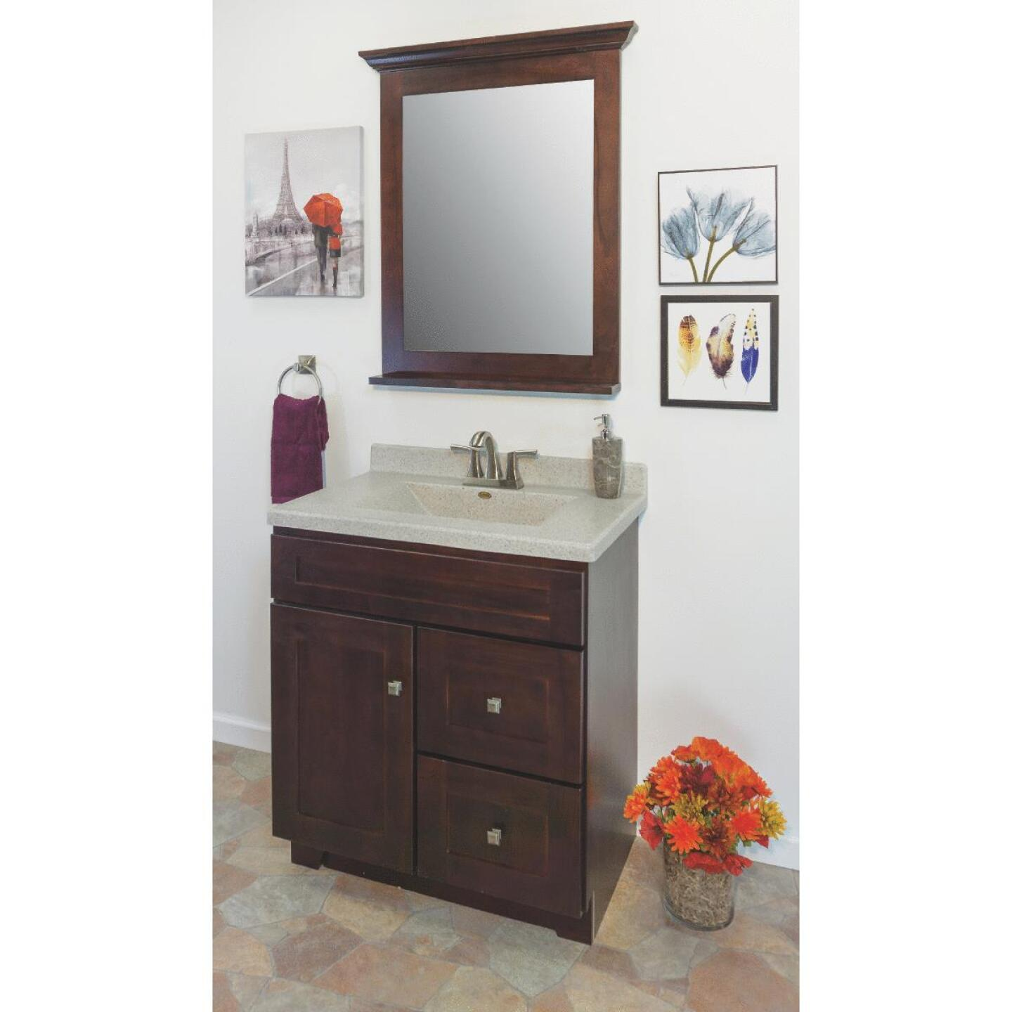 CraftMark CherryVale Shaker Cherry 30 In. W x 34 In. H x 21 In. D Vanity Base, 1 Door/2 Drawer Image 6