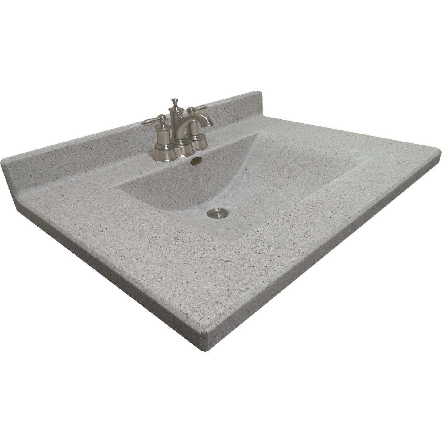 Imperial Marble Ventana 31 In. W x 22 In. D Satin Stone Cultured Marble Vanity Top with Wave Bowl Image 3