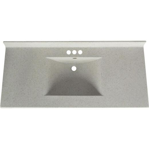 Imperial Marble Ventana 49 In. W x 22 In. D Satin Stone Cultured Marble Vanity Top with Wave Bowl