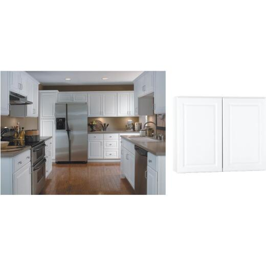 Continental Cabinets Hamilton 36 In. W x 30 In. H x 12 In. D Satin White Maple Wall Kitchen Cabinet