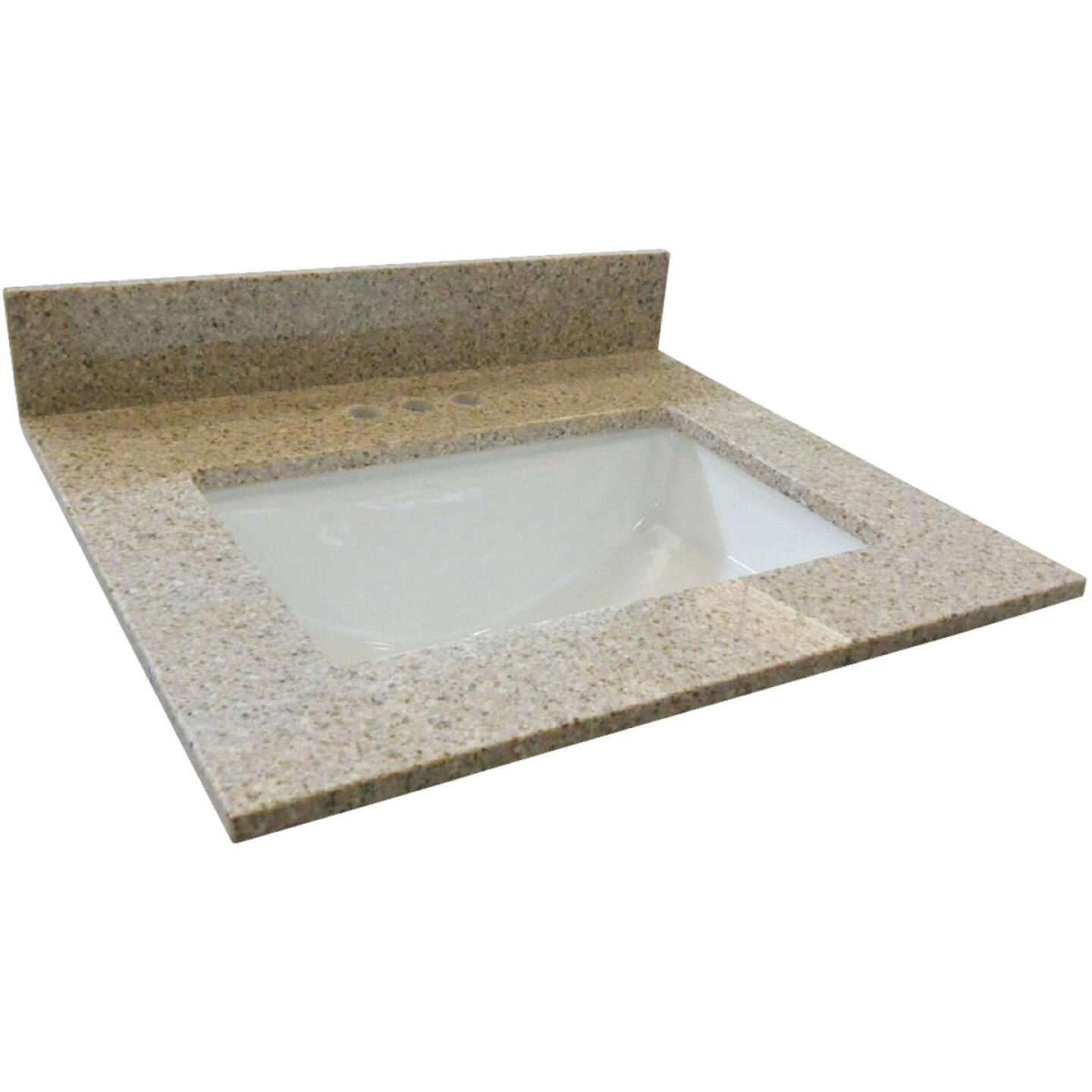 Design House 49 In. W x 22 In. D Golden Sand Granite Vanity Top with Rectangular Bowl Image 1