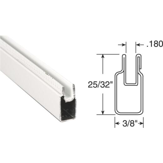 Prime-Line 3/8 In. x 25/32 In. x 94 In. White Aluminum Window Frame