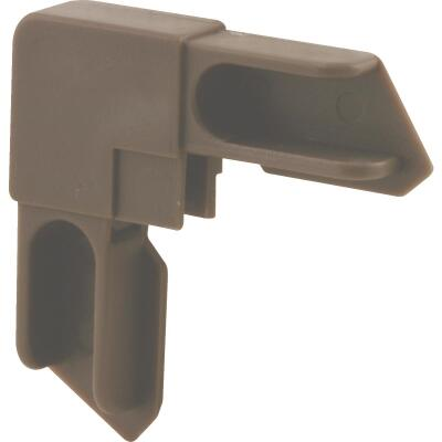 Prime-Line 3/8 In. Bronze Window Frame Corner