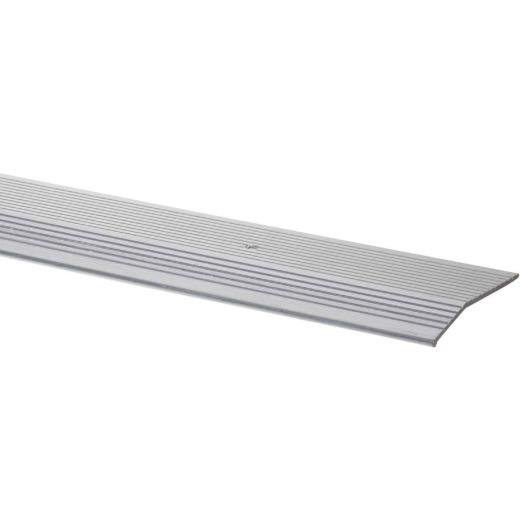 M-D Satin Silver Fluted 2 In. x 3 Ft. Aluminum Carpet Trim Bar, Extra Wide