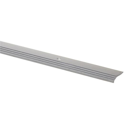 M-D Satin Silver Fluted 7/8 In. x 3 Ft. Aluminum Carpet Trim Bar