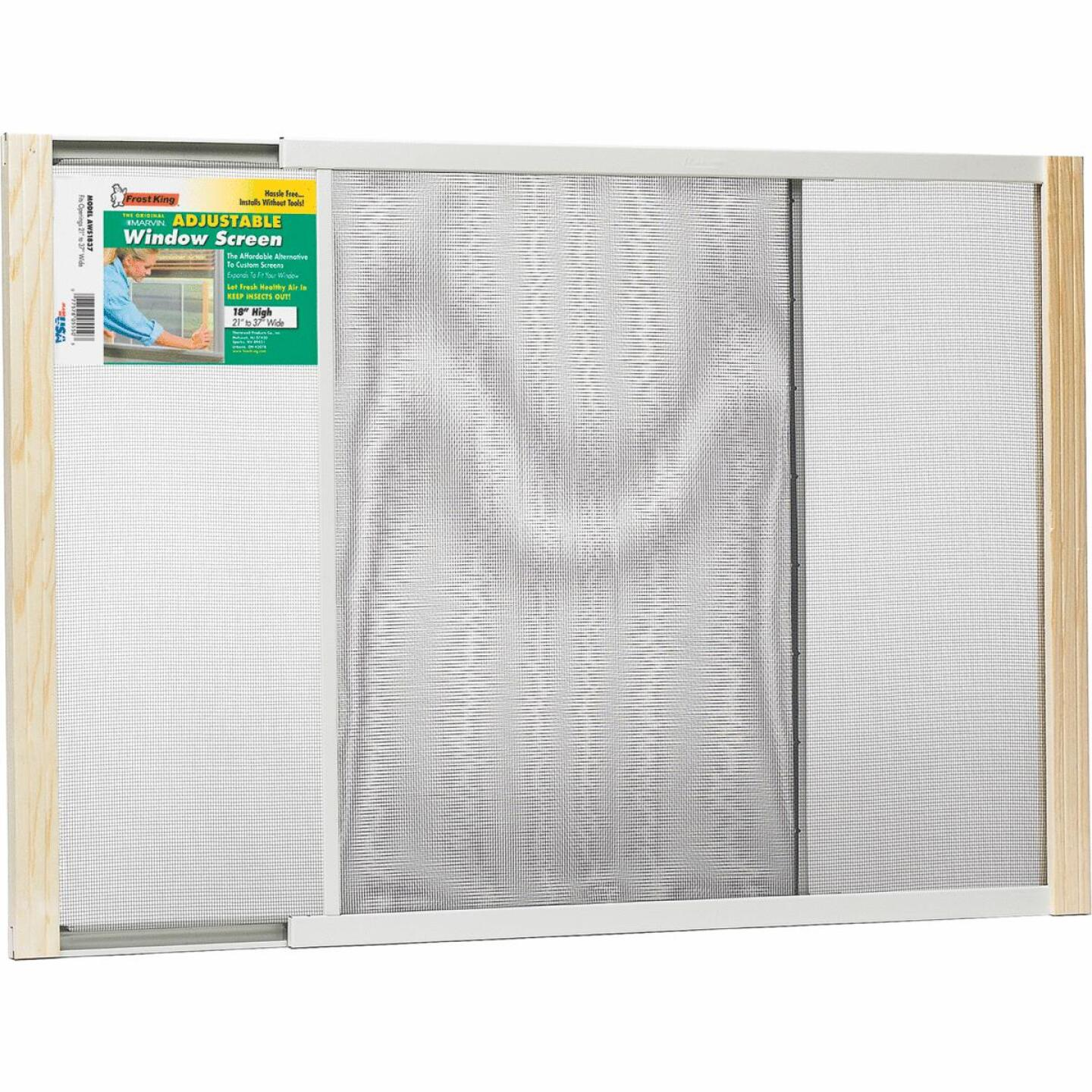 W.B. Marvin 18 In. x 21-37 In. Adjustable Window Screens by Frost King Image 1