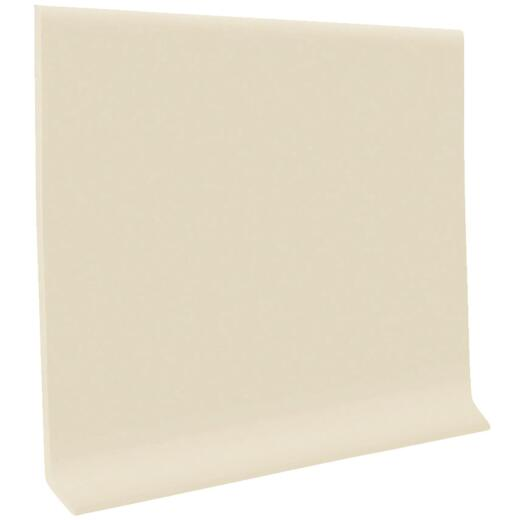 Roppe 4 In. x 4 Ft. Almond Vinyl Dryback Wall Cove Base