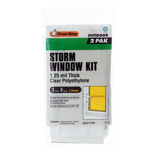 Frost King Outdoor 3 Ft. x 6 Ft. x 1. 25 Mil. Thick Storm Window Kit (2-Pack)