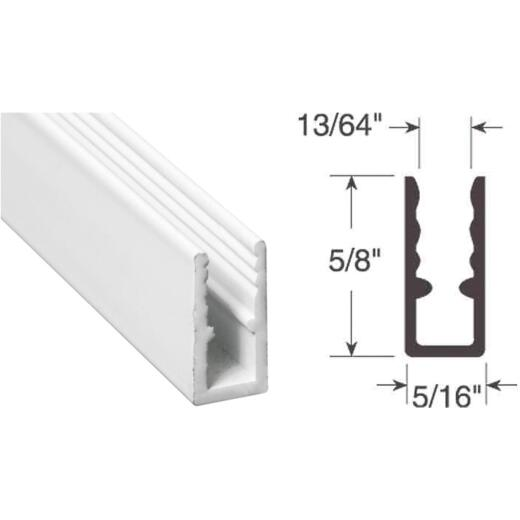 Prime-Line 5/16 In. x 5/8 In. x 94 In. White Extruded Window Frame
