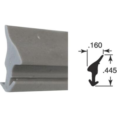 Prime-Line .160 x .445 x 200 Ft. Gray Vinyl Glass Retainer Spline