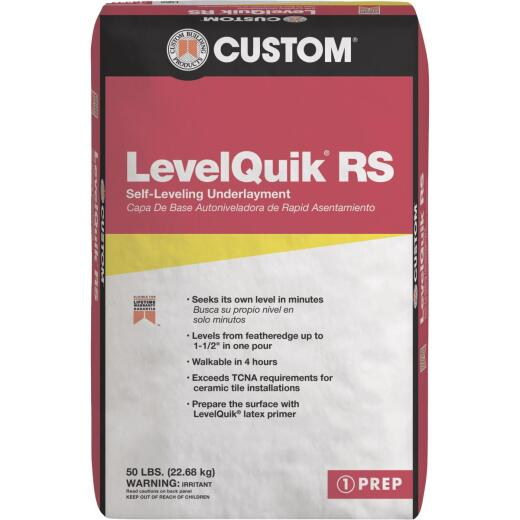 LevelQuik RS Self-Leveling Floor Patch & Leveler, Gray, 50 Lbs.