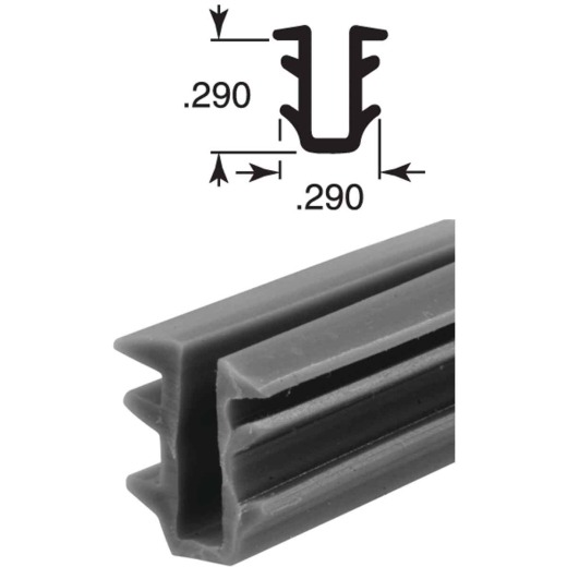 Prime Line 19/64 In. Glass Glazing Channel