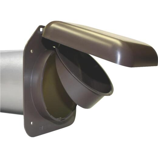 No-Pest 4 In. Brown Plastic Low Profile Dryer Vent Hood