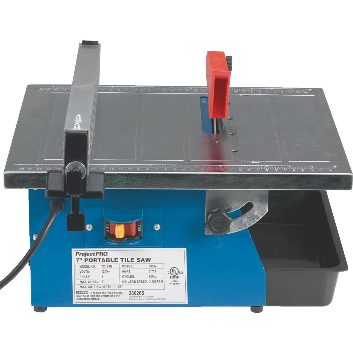 Project Pro 7 In. Portable Tile Saw Image 10