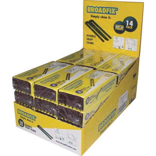 Broadfix 8 In. L Polypropylene Double Snap Wedge Shim (14-Count)