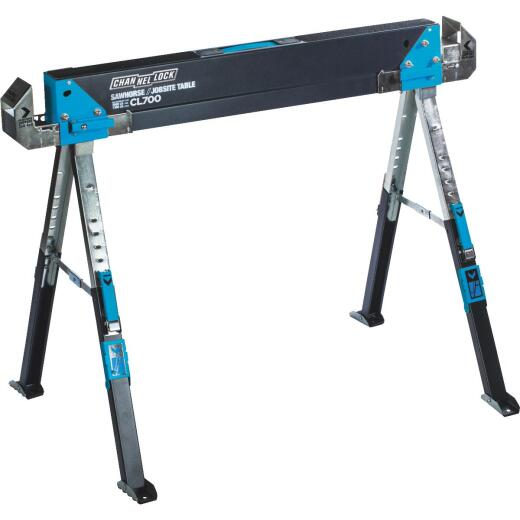 Channellock 39-1/4 to 45-3/4 In. Steel Adjustable Sawhorse Jobsite Table