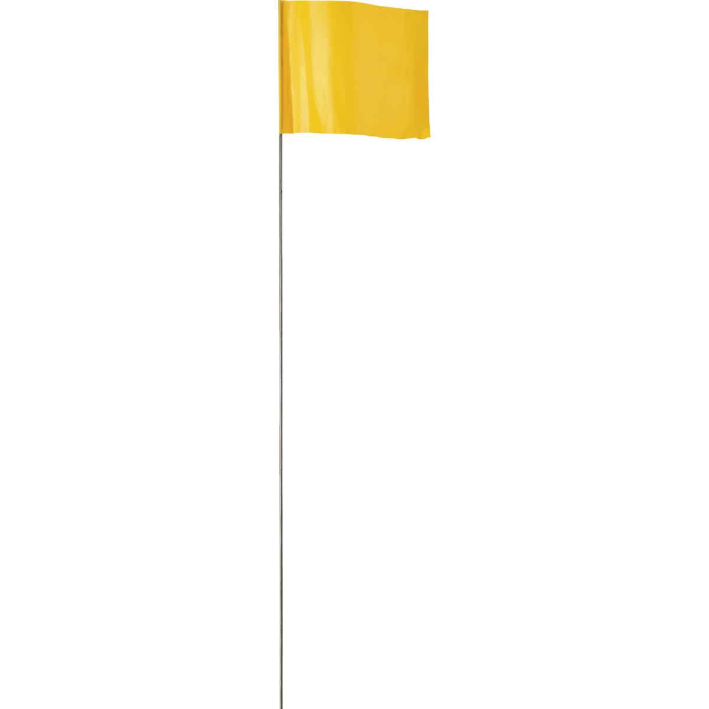 Empire 21 In. Steel Staff Yellow Marking Flags Image 1