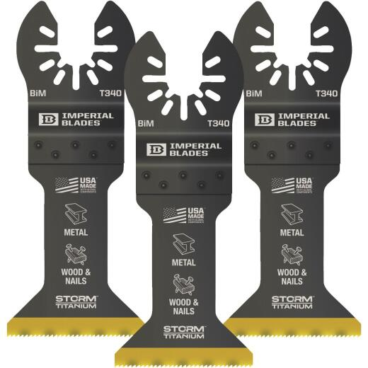Imperial Blades 1-3/4 In. ONE FIT Titanium STORM Wood/Metal Oscillating Blade (3-Pack)