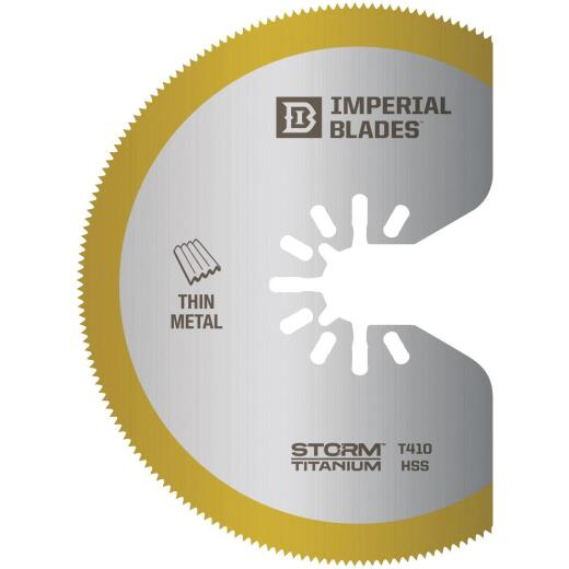 Imperial Blades One Fit 3-1/8 In. Titanium High-Speed Steel Storm Oscillating Blade