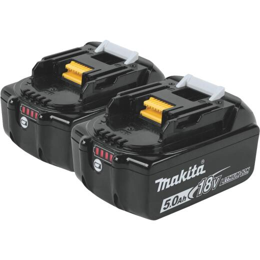 Makita 18 Volt LXT Lithium-Ion 5.0 Ah Tool Battery (2-Pack)