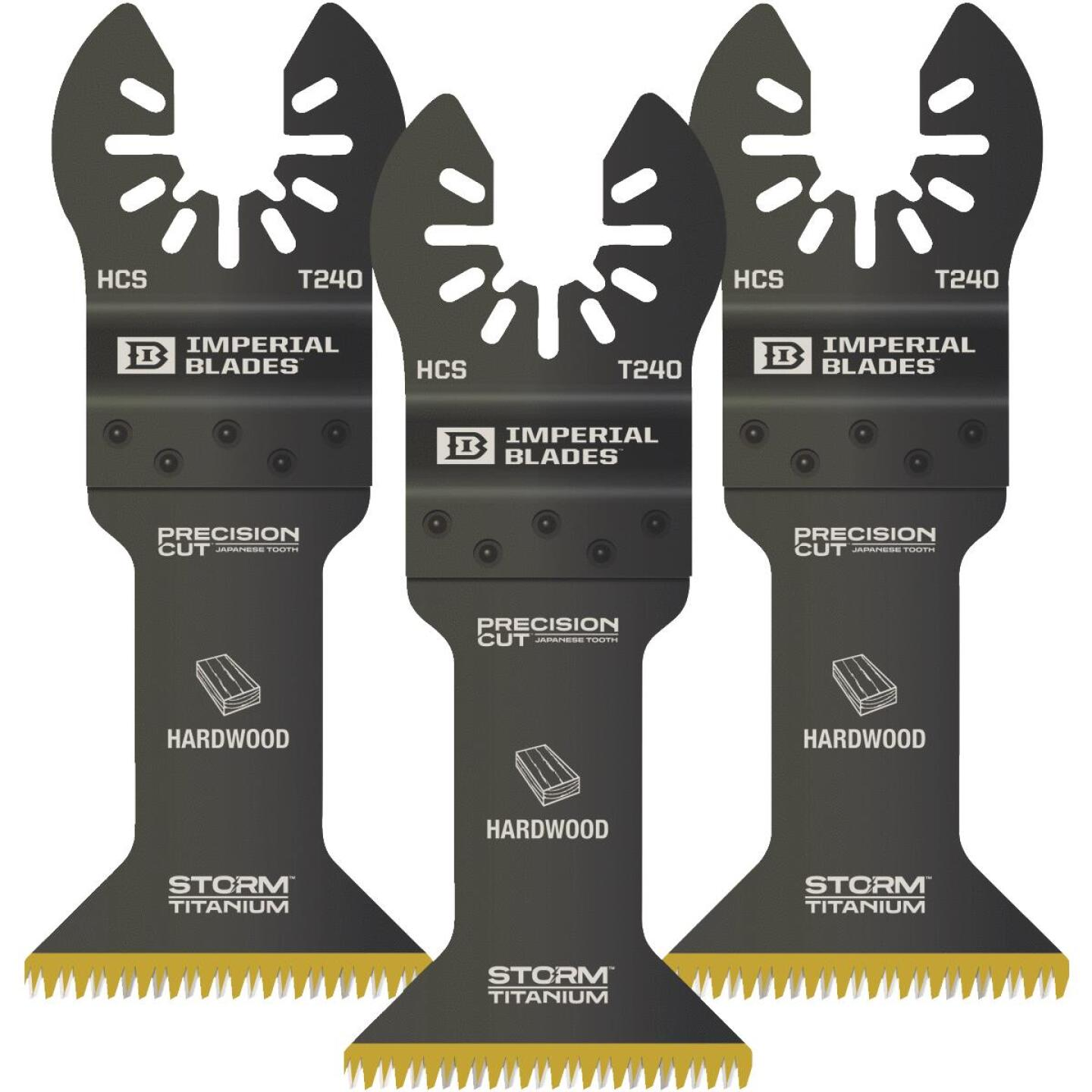 Imperial Blades ONE FIT 1-3/4 In. 15 TPI Titanium Storm Japanese Oscillating Blade (3-Pack) Image 1