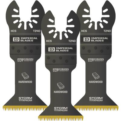 Imperial Blades ONE FIT 1-3/4 In. 15 TPI Titanium Storm Japanese Oscillating Blade (3-Pack)
