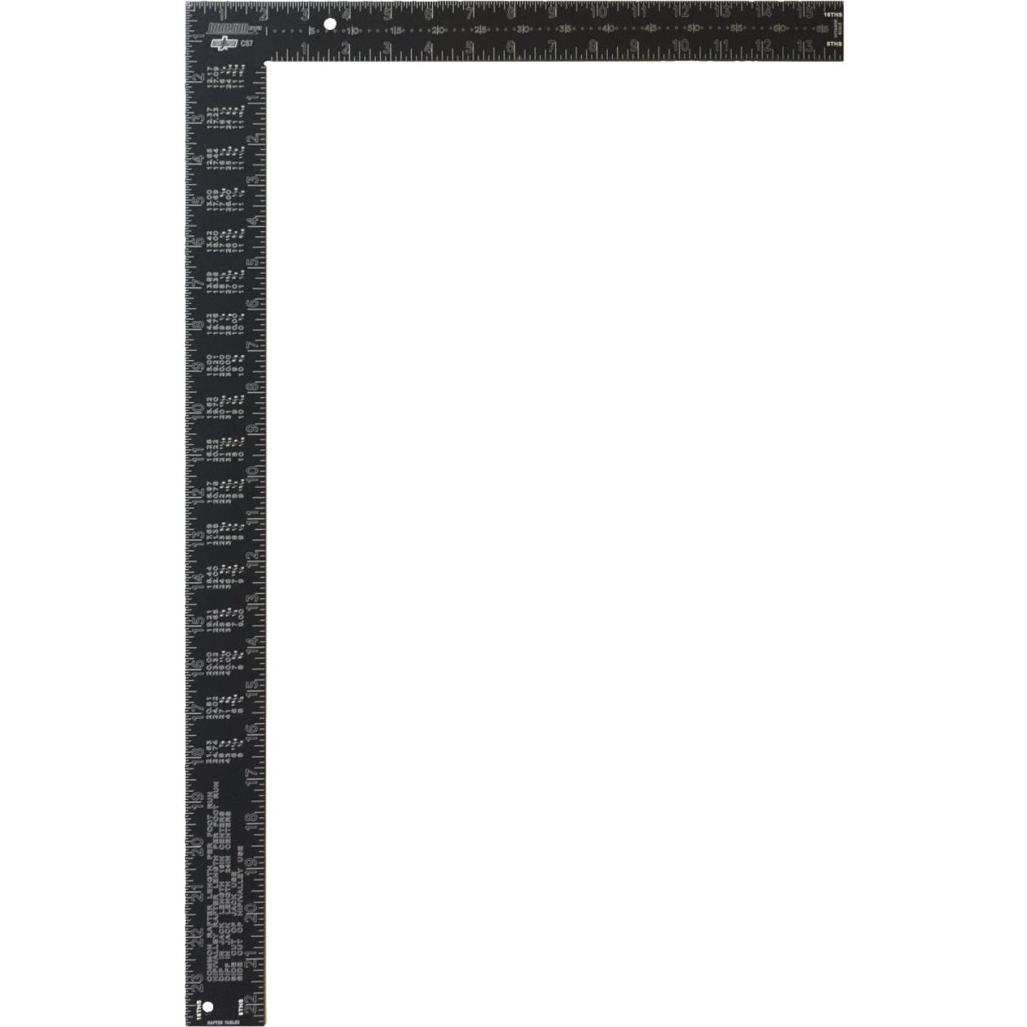 Johnson Level 16 In. x 24 In. Black Aluminum Big J Pro Carpenter's Square Image 1