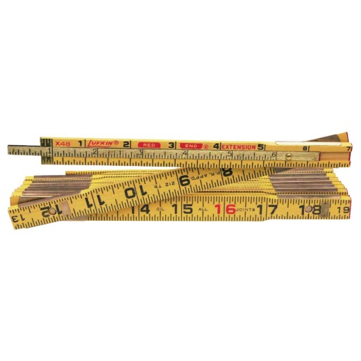 Lufkin Red End 8 Ft. x 5/8 In. Wood Folding Rule, with One 6 In. Slide Extension