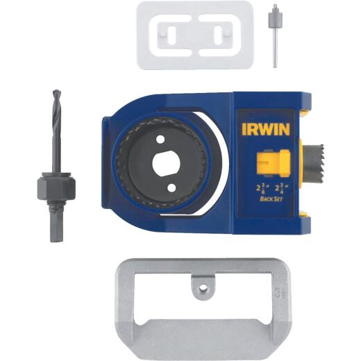 Irwin Carbon Steel Door Lock Installation Kit for Wood Doors