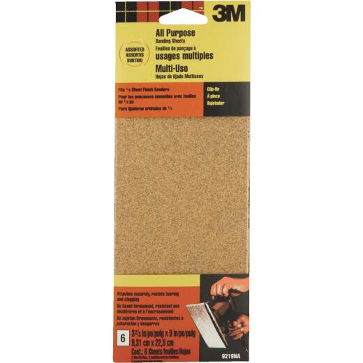 3M Sandblaster 60, 100, 150 Grit 1/3 Sheet Power Sandpaper (6-Pack)