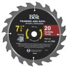 Do it Best 7-1/4 In. 20-Tooth Framing & Ripping Circular Saw Blade Image 1