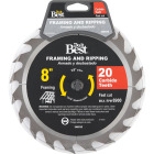 Do it Best 8 In. 20-Tooth Framing & Ripping Circular Saw Blade Image 1