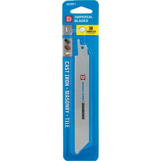 Imperial Blades 6 In. Diamond Grit Reciprocating Saw Blade