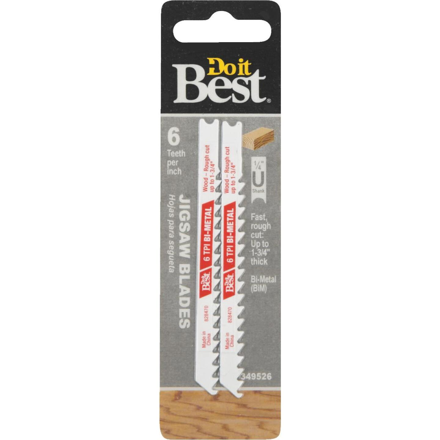 Do it Best U-Shank 3-5/8 In. x 6 TPI Bi-Metal Jig Saw Blade, Wood 1-3/4 In. Thick (2-Pack) Image 1