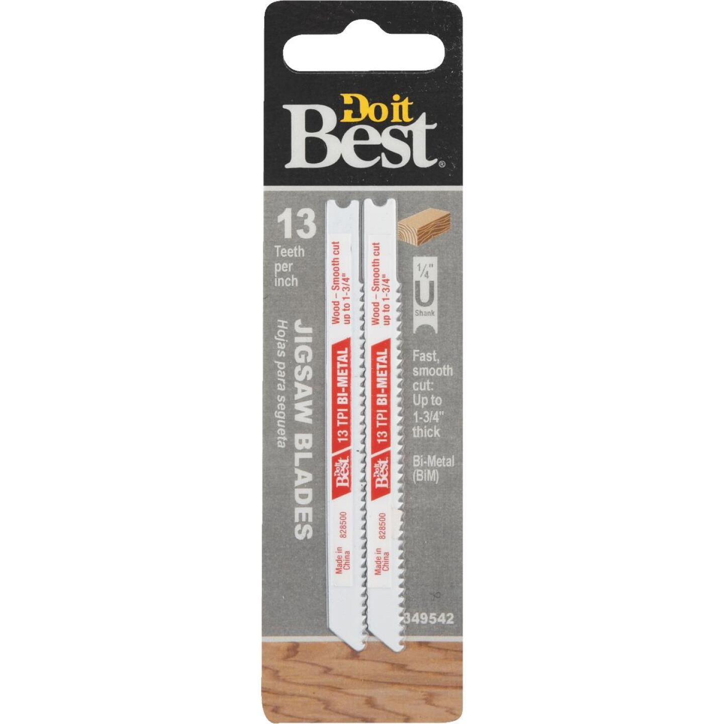 Do it Best U-Shank 3-5/8 In. x 13 TPI Bi-Metal Jig Saw Blade, Wood 1-3/4 In. Thick (2-Pack) Image 1
