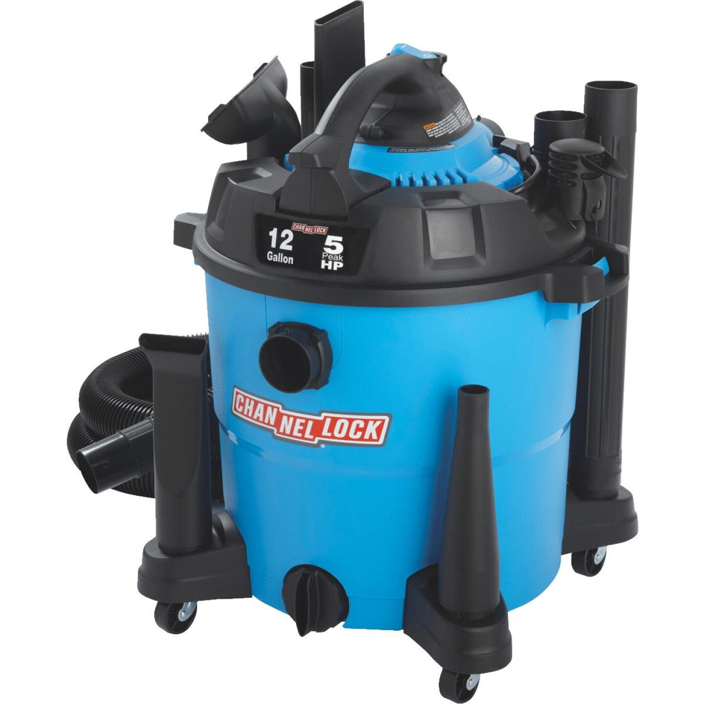 Channellock 12 Gal. 5.0-Peak HP Wet/Dry Vacuum with Blower Image 6