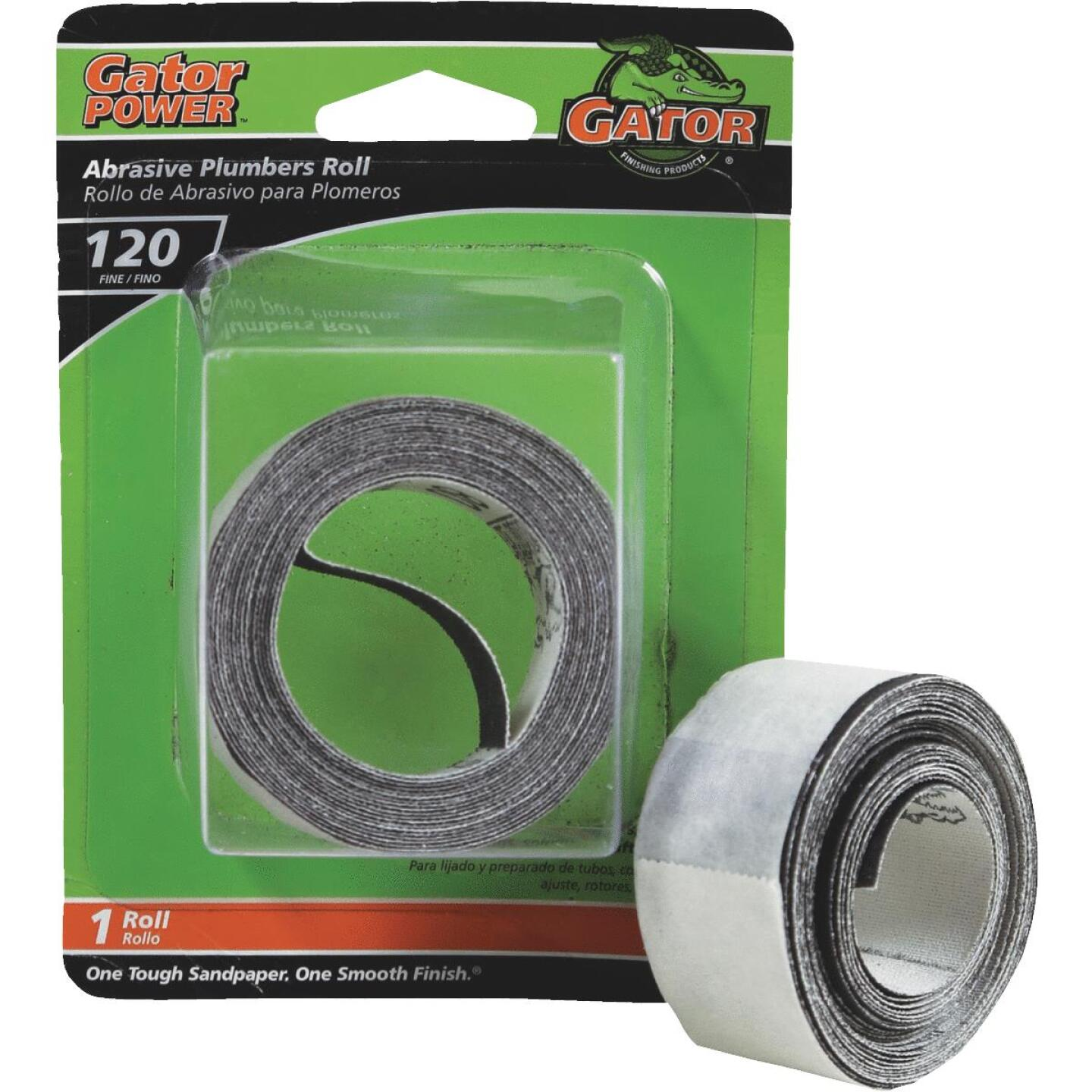 Gator 1 In. x 10 Ft. 120-Grit Plumber's Abrasive Sand Cloth Image 1