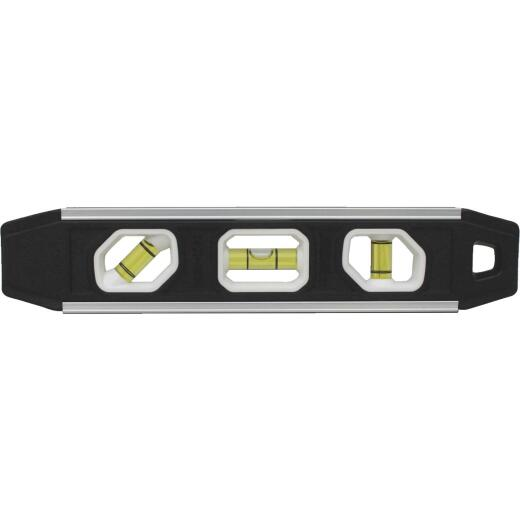 Johnson Level 9 In. Aluminum Reinforced Magnetic Torpedo Level