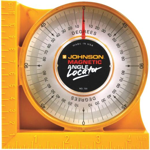 Johnson Level Plastic Magnetic Protractor Angle Locator