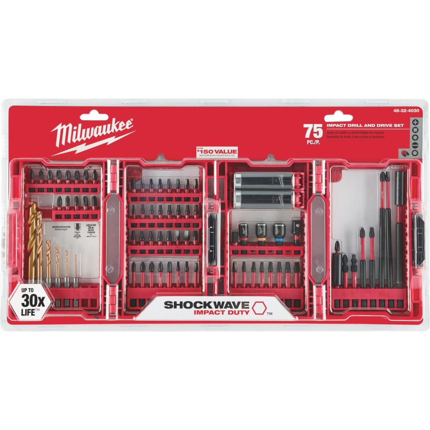 Milwaukee Shockwave 75-Piece Impact Duty Drill and Drive Set Image 2