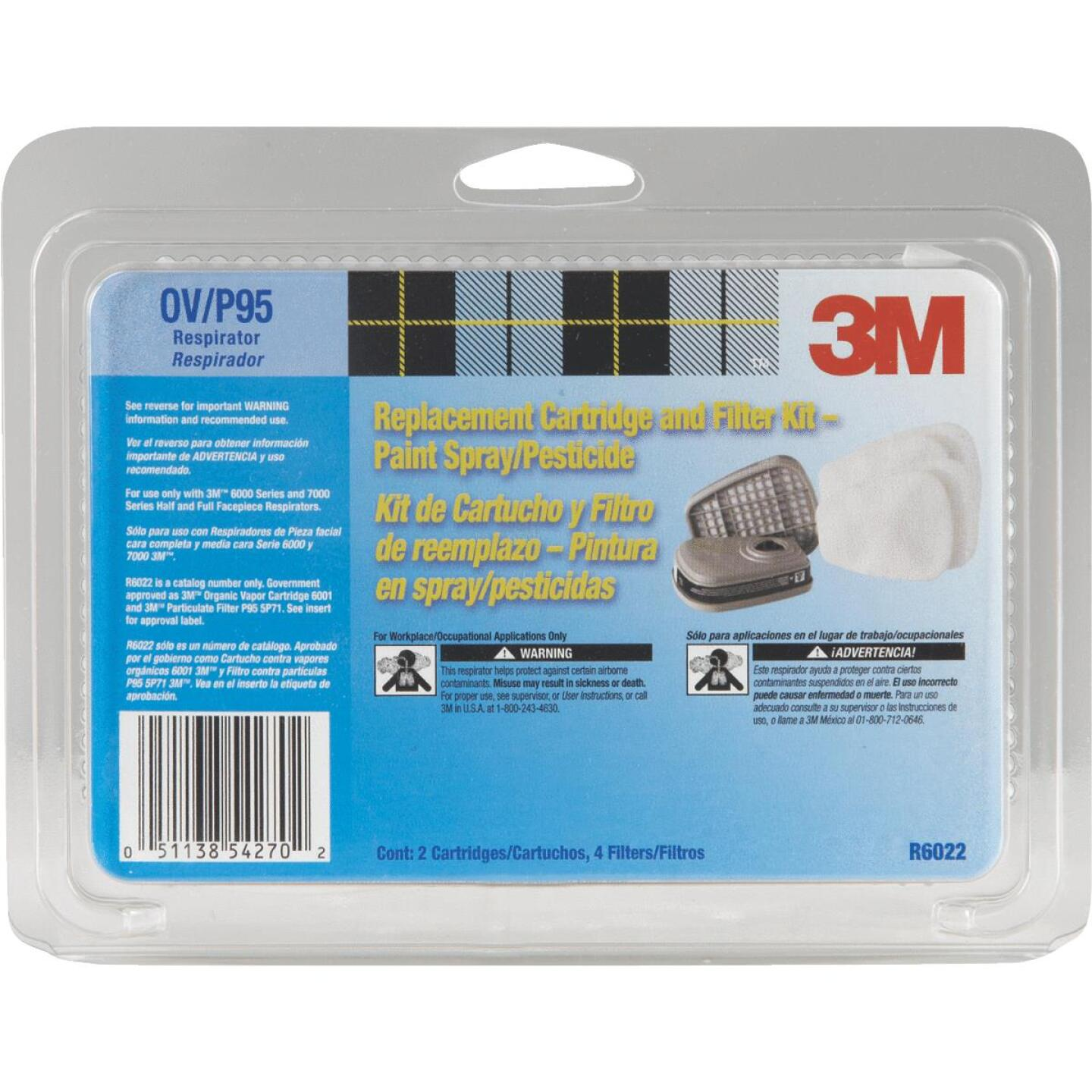3M OV/P95 Paint Replacement Filter Cartridge with Pre-Filter Pack (2-Pack) Image 1