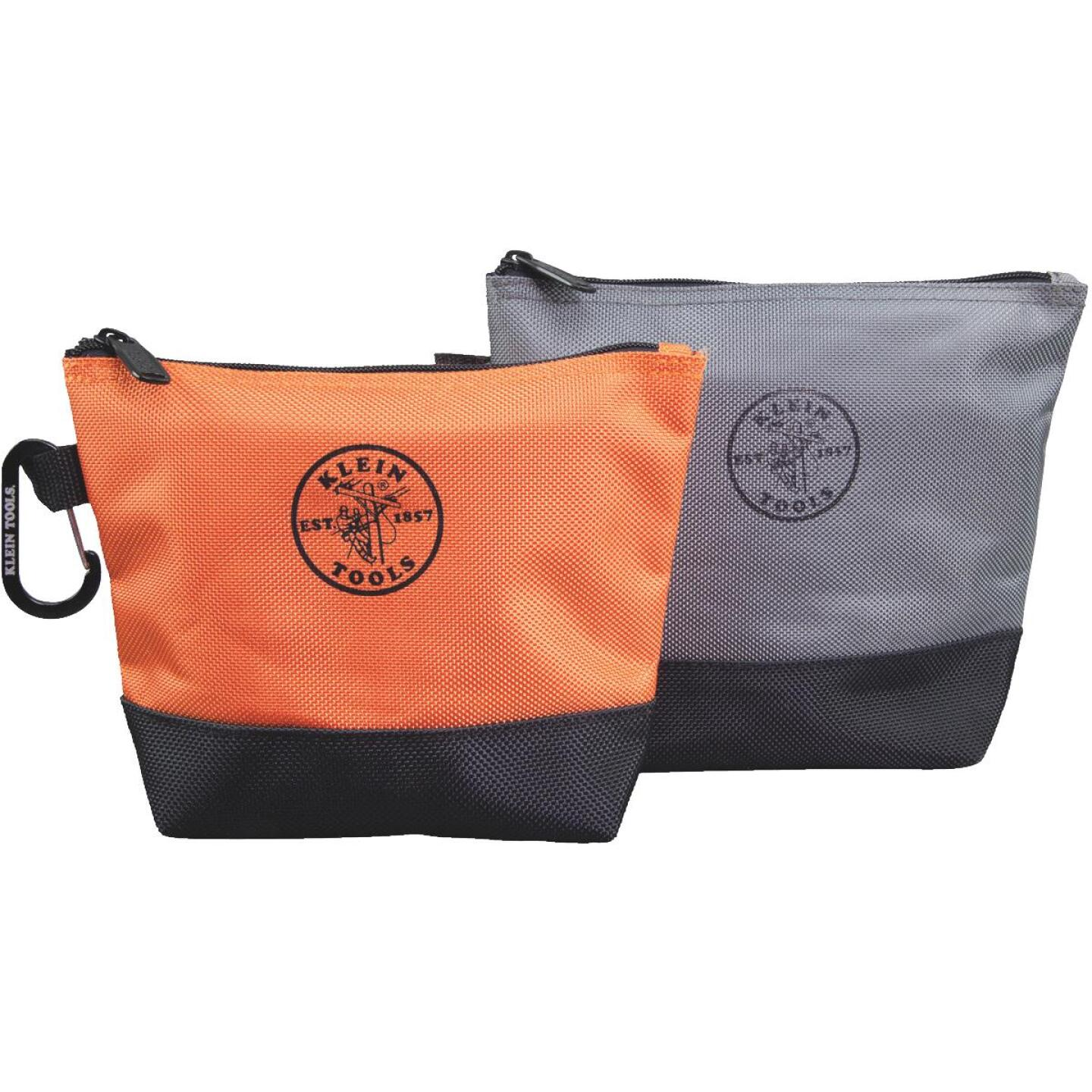 Klein 1-Pocket 8-1/2 In. & 9 In. Stand-Up Zipper Tool Bag (2-Pack) Image 1